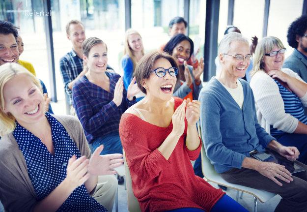 members enjoying the presentation