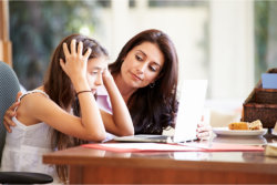 mental health professional counseling to a girl